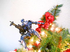 Archangel atop the christmas tree (again!) (Homicide_Crabs) Tags: mass effect garrus vakarian turian christmas play arts
