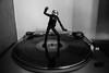daft punk discovery (nicouze) Tags: daft punk figurine figure discovery vinyl platine dance danse disco blackandwhite bw noiretblanc nicouze nb turntable