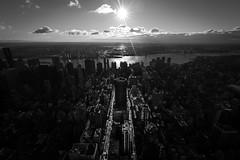 Sunrise on Manhattan (Fabrice Lamarche) Tags: newyork unitedstates buildings empirestatebuilding immeubles leverdesoleil light lumière manhattan matin morning ombres shadows sunset