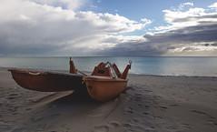Red Lifeguard Boat (armandocapochiani) Tags: sea sand lifeguard sky mare cielo sabbia apulia salento taranto italy italian baywatch nikon20mm nikond3 photography panorama armandocapochiani