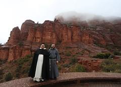 Friars at Sedona (Lawrence OP) Tags: franciscan friars holyspirit fhs arizona dominican sedona rocks red