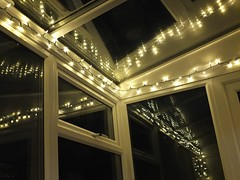 Winter lights (sue_p32) Tags: week1 52in2017 refelection glass lights dark night