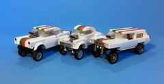 Octan Nostalgia Gasser race team featuring the all new modular gasser chassis (timhenderson73) Tags: lego custom octan racing team gasser hot rod modular chassis ford chevy coupe wagon