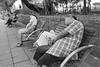 Find a Chair and Sleep (Pexpix) Tags: bw blackandwhite film film201614 ilfordhp5 kodakd76 leica35mmsummicronmf2asph leicampsilver monochrome hongkong kowloon