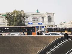 The Shapeless Pursuits of Life (Mayank Austen Soofi) Tags: delhi walla commuter women woman escalator connaught place urban subway