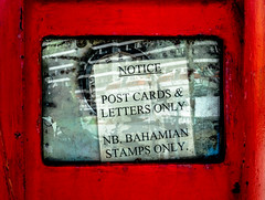 no packages (-gregg-) Tags: mailbox bahamas reflection sign glass old different