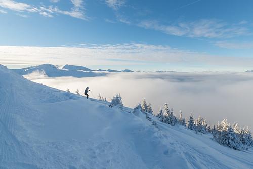 Off pist skier.
