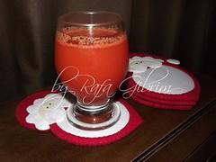 Descanso de copos do Papai Noel (Feito a mão [by Rafa]) Tags: feltro fieltro felt rafagibrim fofo cute enfeite presente lembrança artesanato natal papainoel descanso descansodecopo