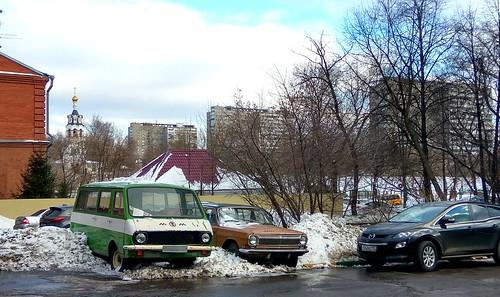 Moscow private bus RAF-2203 Двор автоколлекционера в Черкизово