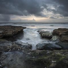 san diego : solana beach (William Dunigan) Tags: san diego solana beach cardiff by sea ocean southern california west coast sunset dusk storm clouds waves low light