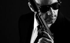 ME (Donald Palansky Photography) Tags: guns suitandtie sonyslta99v silencer sunglasses hitman offcameraflash strobist alienbees 50mmf17 assassin