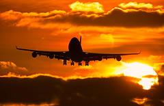 British Airways - Boeing 747-436 G-BNLF @ London Heathrow (Shaun Grist) Tags: gbnlf ba speedbird britishairways boeing 747400 jumbo lhr egll londonheathrow london heathrow approach sunrise silhouette airline aircraft aeroplane avgeek