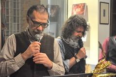 N2122842 (pierino sacchi) Tags: kammerspiel brunocerutti feliceclemente igorpoletti improvvisata jazz letture libreriacardano musica sassofono sax stranoduo