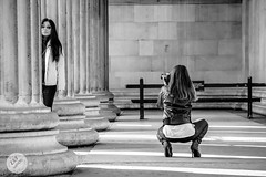 London is ... photo shoots (ESTjustPHOTO - Elias S Tilavgi) Tags: london photoshoot photographing uk black white bw sitting model lens natural history museum
