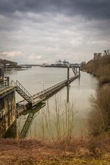 sluis Weurt-7 (stevefge) Tags: weurt sluis canal rivers landscape beuningen winter maaswaal waal gelderland reflectyourworld reflections kanaal nederland netherlands nijmegen nl nederlandvandaag