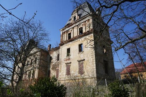 Pałac w Stolcu od południowego wschodu