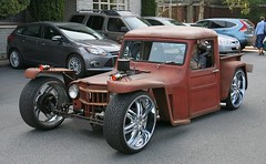 "1963 Willys Jeep Pickup ""Kustom Rod"" (Custom_Cab) Tags: 1963 willys jeep pickup truck pick up custom kustom rat rod hot street rusty willysoverland overland"