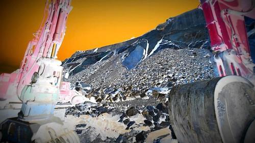 """Industrial Fantasy Fantaisie Industrielle""  ⚪️ Valais Rocks !  Quarries of Saint Leonard.  ⚪️⚪️⚪️⚪️⚪️ ⚪️⚪️ ©Pictures are mine, except if sta"