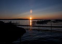 Lakefront Sunset (trainmann1) Tags: wood sunset summer vacation sky sun lake ny newyork reflection water weather clouds docks boats boat dock nikon august reflect handheld nikkor amateur 2015 18200mm d90 lakechautauqua chautauquacountyny