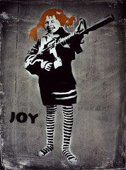 Joy? (Basse911) Tags: art texture norway norge joy rifle shopwindow bergen pippilongstocking pippilångstrump