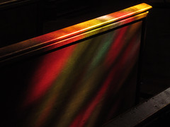 Lichtreflexe 3 (MKP-0508) Tags: reflections kirche normandie coloured normandy bunt basilika basilique fénêtre kirchenfenster lichtspiele bariolé douvresladélivrande notredamededélivrande
