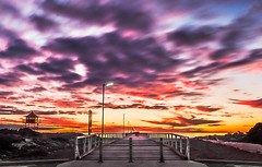 Wait a Little Longer (A Durst Photo) Tags: ocean life light sunset sky tower beach water clouds landscape photography coast sand exposure day time outdoor jetty au dune australia land type geography saving sanddune southaustralia hdr blend whisps archtiecture timeofday exposureblend 500px lifesavingtower typeofphotography ifttt