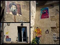 le marais grafitti collage (LS Lam) Tags: travel paris france collage marais 2015