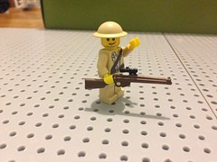 Lee Enfield Sniper Rifle (ranger3181) Tags: world 2 two army war paint desert lego rifle lee rats sniper ww2 british custom brit commonwealth enfield smle brickarms