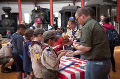 """Railroading Day """"Calling All Boy Scouts!"""" (B&O Railroad Museum) Tags: boy scouts 2015 kidsactivities"""