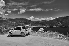 On a mountain road Greece (vadimmokin) Tags: sea sky mountains nature clouds blackwhite nikon nikkor greese blackwhitephotos nikonflickraward nikond610