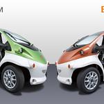 超小型電気自動車の写真