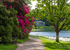 Path to Pantheon (JKmedia) Tags: bridge summer lake tree green water architecture garden landscape temple spring arch path pantheon arches stourhead greenery colourful wiltshire nationaltrust tress pathway waterscape arched canoneos5dmkiii boultonphotography