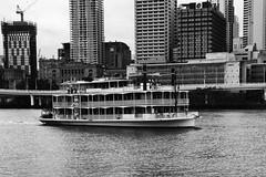 Brisbane ferry service (sydbad) Tags: city bw ferry australia brisbane queensland service alienskin sonya7 ilce7 sel2470z