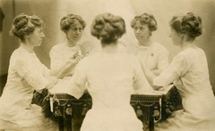 Mirror Photo of Woman Playing Cards, White Way Photo Studio, New York, N.Y. (Alan Mays) Tags: old newyorkcity playing ny newyork portraits vintage hair cards souvenirs clothing women photos antique five mirrors photographers games ephemera clothes photographs postcards broadwayavenue studios hairstyles trickphotography playingcards cardgames foundphotos whiteway cardplaying mirrorphotography rppc trickphotos multigraph souvenirphotos realphotopostcards multiphotography photographicamusements whitewayphotostudio