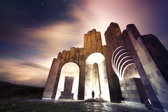 Monument to the Battle of Bash Aparan (inhiu) Tags: longexposure nightphotography light sky lightpainting monument night armenia urbex armania 1monument inhiu