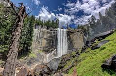 Vernal Falls (KC Mike Day) Tags: california park blue trees sky mist nature clouds danger rocks hiking hike trail national yosemite granite northern misttrail