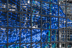 20150920 USA New England 01887 - Copy (R H Kamen) Tags: blue usa netherlands horizontal closeup america outdoors photography us trapped fishing day pattern order unitedstates maine newengland nopeople cage stack backgrounds saintgeorge inarow lobstertraps lobsterpot colorimage largegroupofobjects fishingindustry animalthemes colourimage rhkamen