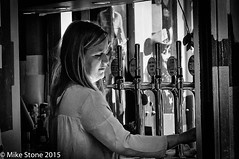 Beer Light (stonem64) Tags: street blackandwhite bw london girl candid southbank legacylens helios44m4f258mm nex6