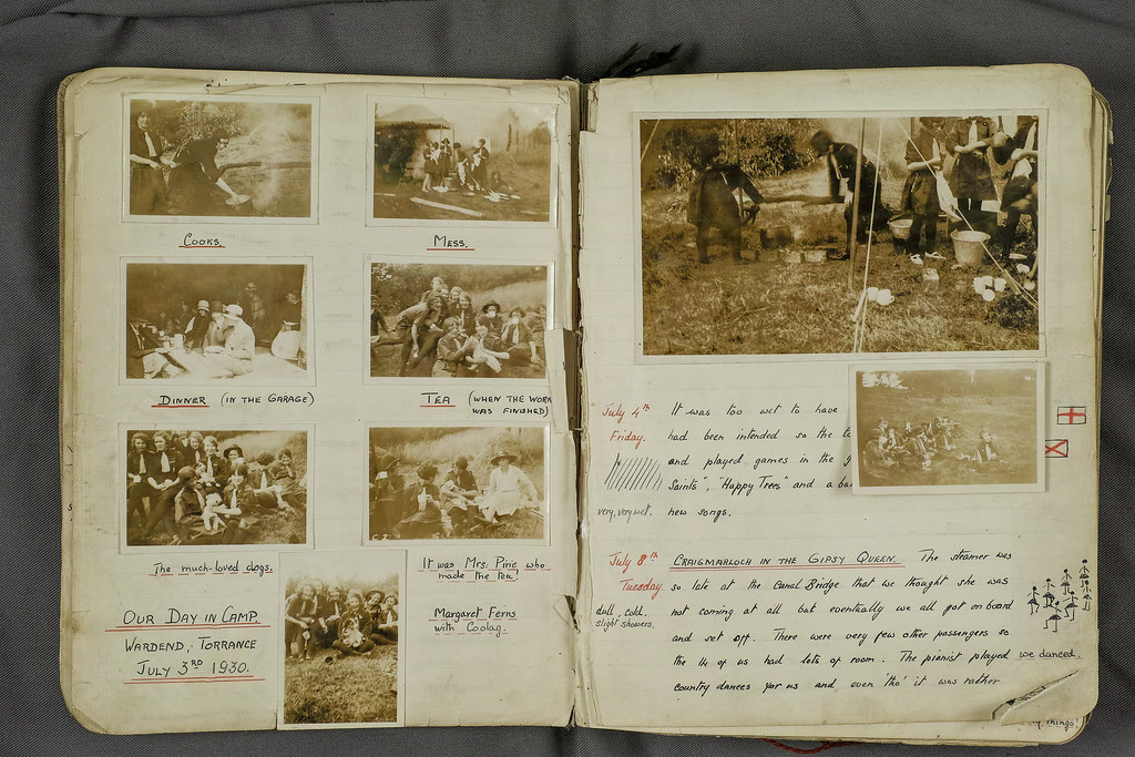 Torrance - Sheena Pirie Girl Guides Log Book - Camp 1930