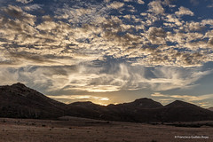 Cloudy Sunset in Los Genoveses (Francisco Guilln Rojas) Tags: sunset sky espaa clouds canon spain cielo nubes almeria 6d 2470 genoveses