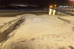 Flush (Jason Whittle Photography) Tags: sea seascape beach night nightshot stormy erosion nightsky sa lightning southaustralia strikes longexposer portlincoln lightningstorm townjetty lightningnightshot
