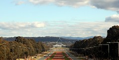 Australian Parliament House (Dan Gibbo) Tags: road building australia parliament canberra flagpole parliamenthouse