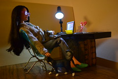 Rachela with cats (pe.kalina) Tags: cats doll barbie mattel dollhouse raquelle