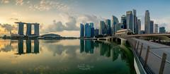 Jubilee Rising (Jansen Chua) Tags: morning panorama sunrise singapore cityscape skyscrapers goldenhour jubileebridge centralbusinessdistrict ura urbanredevelopmentauthority marinabaysands singaporetourismboard marinabayfinancialcentre jansenchuaphotography