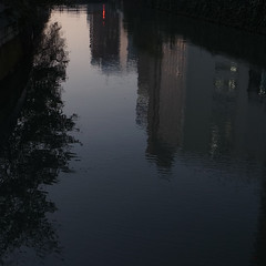dusk (akhr1961) Tags: reflections river ripples gr4