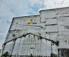 jetting off (SM Tham) Tags: sky streetart building boys wall mural malaysia ipoh perak paperplane ernestzacharevic