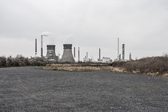 Towers (lars_uhlig) Tags: winter chimney plant tower industry germany deutschland grey cloudy smoke shell wolken grau rhine raffinerie rhein refinery industrie schornstein rheinland trme rauch cooling wolkig 2015 bedeckt khlturm godorf