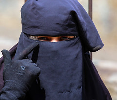 Guns and Roses OR They Are Nuts OR Look Me in the Eyes (ybiberman) Tags: portrait woman rose israel lace candid jerusalem hijab streetphotography glove niqab ramadan muslimquarter oldcity alquds fridayprayer