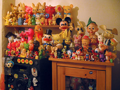 Toy Collector slash Hoarder (The Moog Image Dump) Tags: cute kitchen vintage toy toys collection kawaii figure moog squeakers shelfs combex