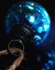 blue Christmas (s@ssyl@ssy) Tags: christmas blue macro reflection bokeh decoration bauble inbetween macromondays